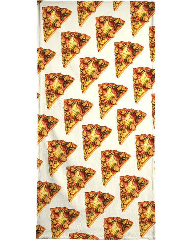 Pizza Pattern Beach Towel