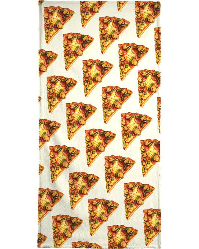 Pizza, Retro, Pizza Pattern strandlaken
