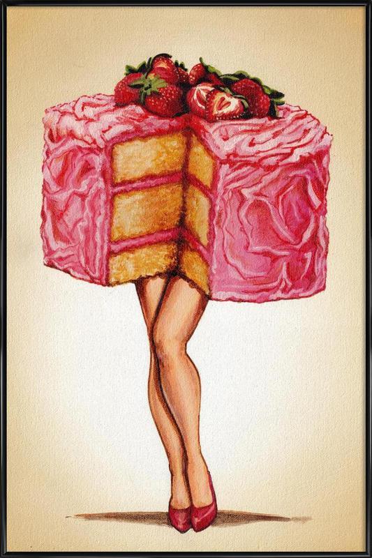 Hot Cakes -Bild mit Kunststoffrahmen