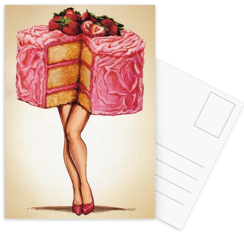 Retro, Taarten, Hot Cakes ansichtkaartenset