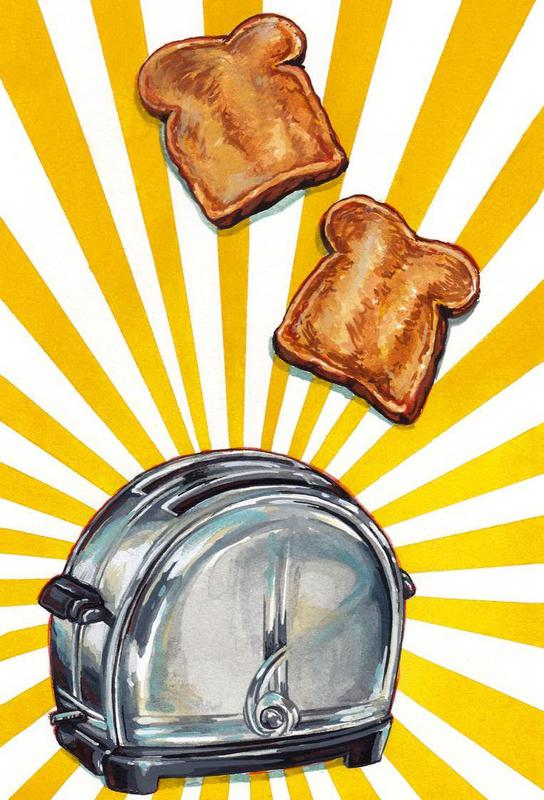 Toaster and Toast Acrylic Print