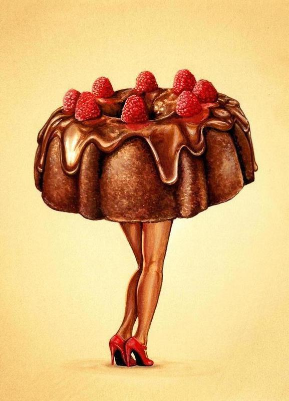 Hot Cakes II toile