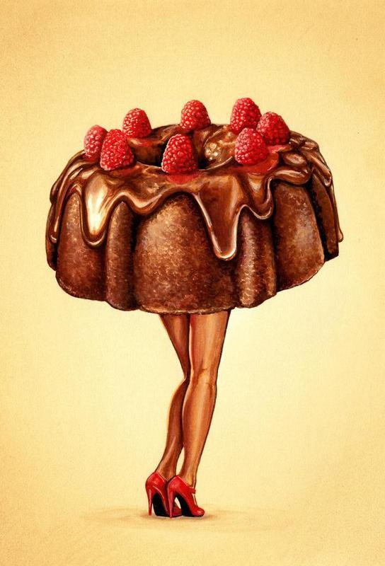 Hot Cakes II Impression sur alu-Dibond