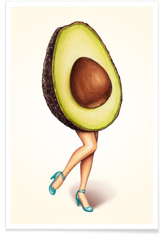 Retro, Avocados, Fruit Stand - Avocado Poster