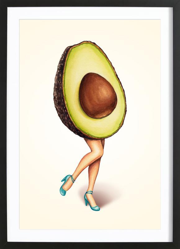 Fruit Stand - Avocado Framed Print