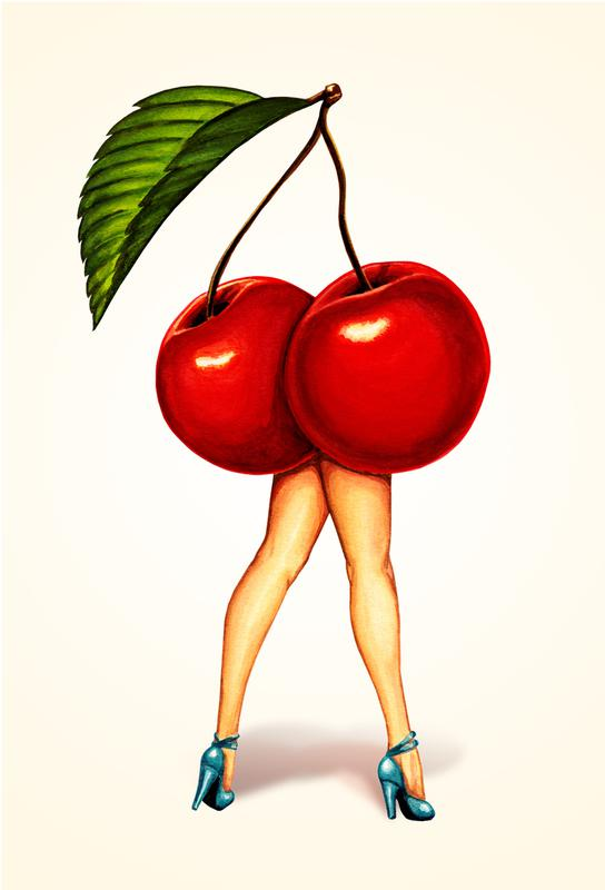 Fruit Stand - Cherry Acrylic Print
