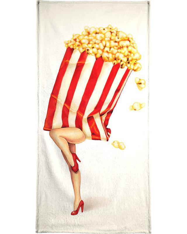 Popcorn Girl -Handtuch