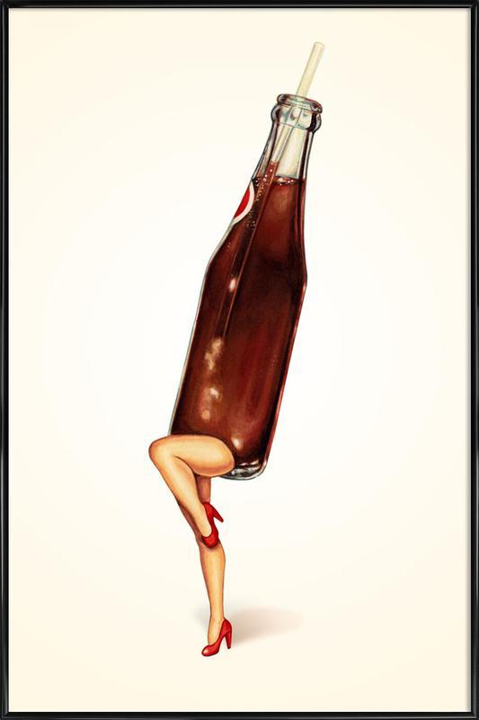 Soda Girl Framed Poster