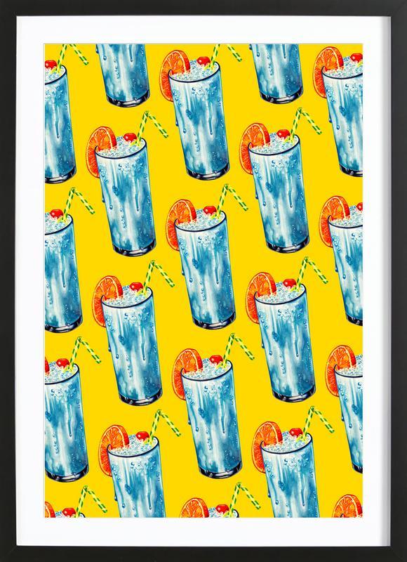 Blue Hawai Pattern Framed Print
