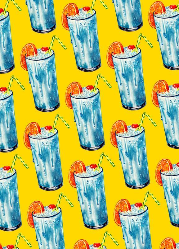 Blue Hawai Pattern Canvas Print