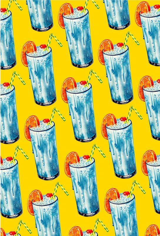 Blue Hawai Pattern alu dibond