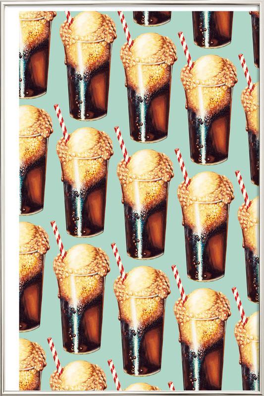 Rootbeer Float Pattern -Poster im Alurahmen