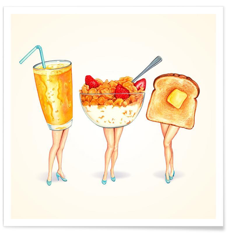Breakfast Girls Poster