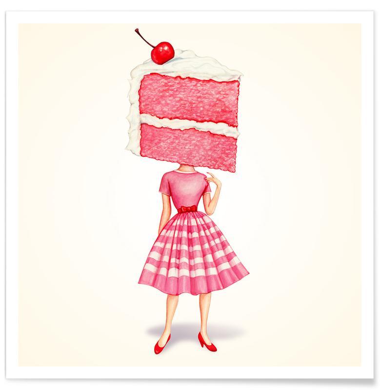 Kuchen, Cake Heads Cherry -Poster