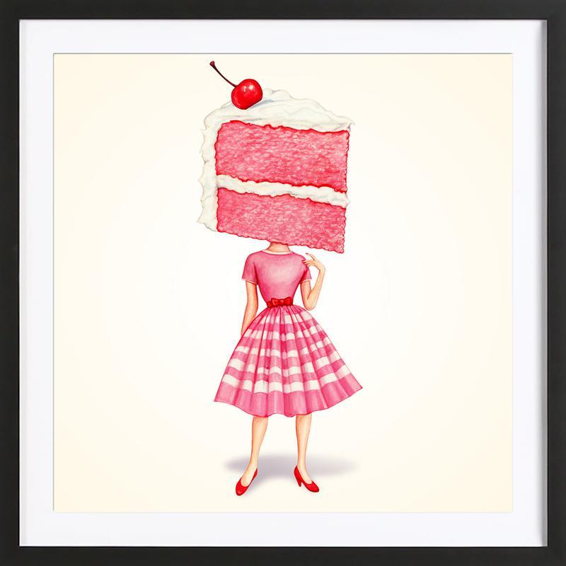 Cake Heads Cherry ingelijste print