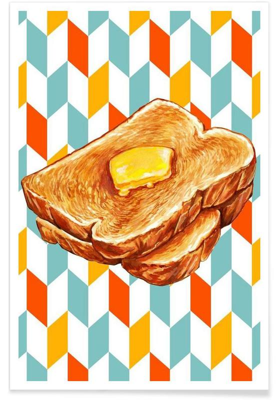Retro, Buttered Toast -Poster