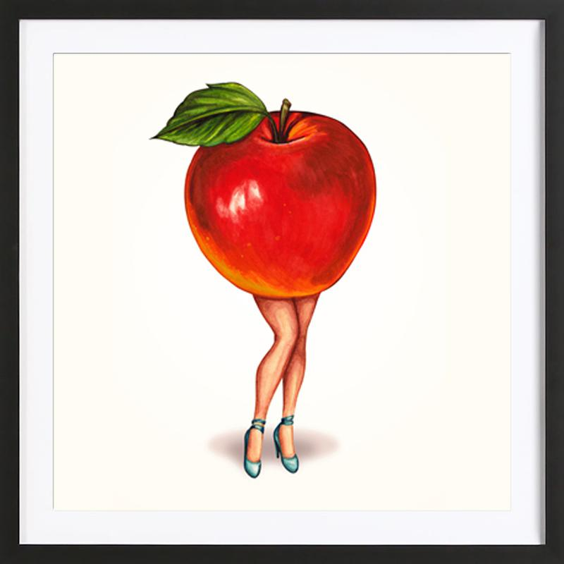 Fruit Girls Apple Framed Print