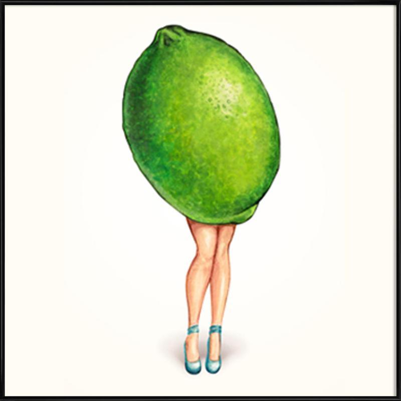 Fruit Girls Lime Framed Poster