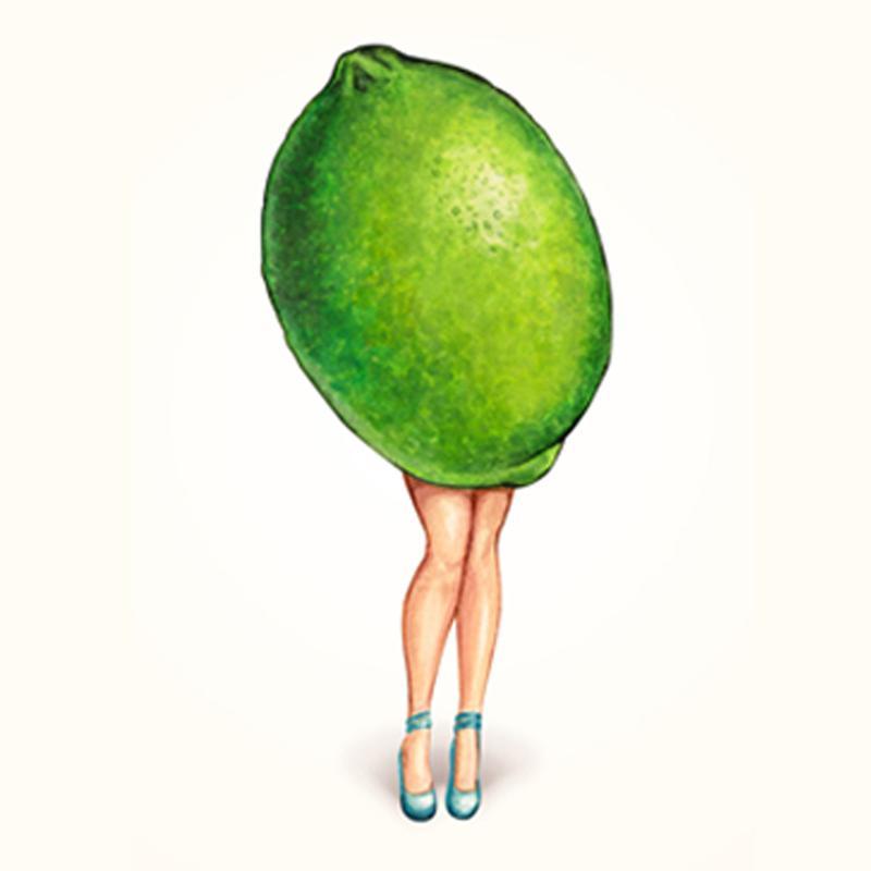 Fruit Girls Lime Acrylic Print