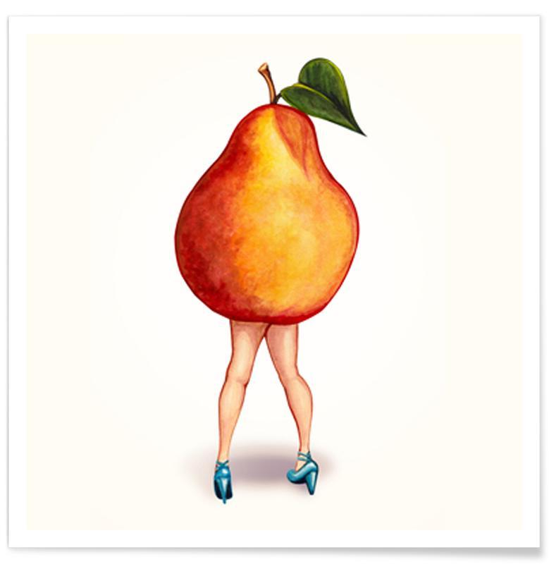 Pears, Fruit Girls Pear Poster