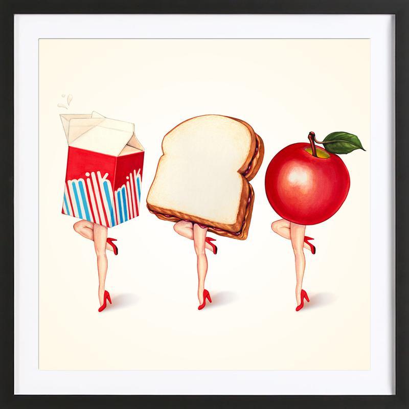 Lunch Ladies Framed Print