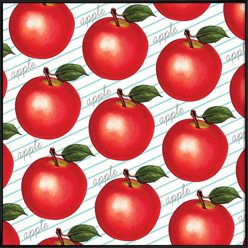 Lunch Patterns Apple Ruled Framed Poster