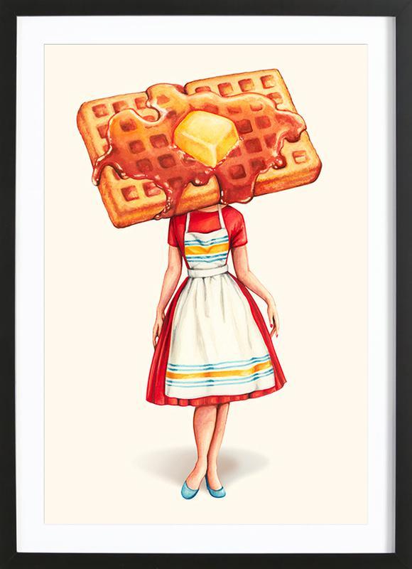Waffle Housewife Framed Print
