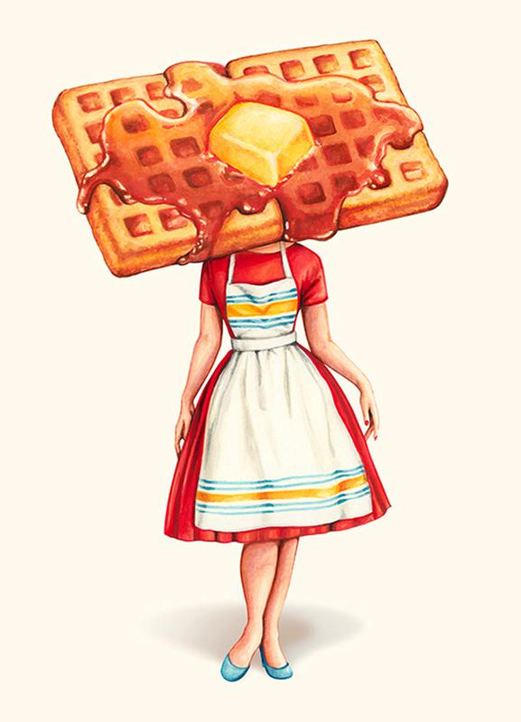 Waffle Housewife Canvas Print