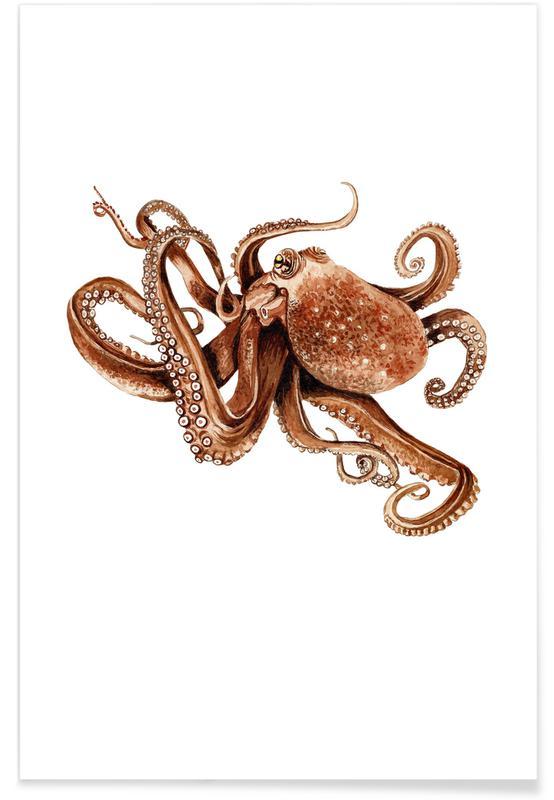 Blæksprutter, Octopus Plakat