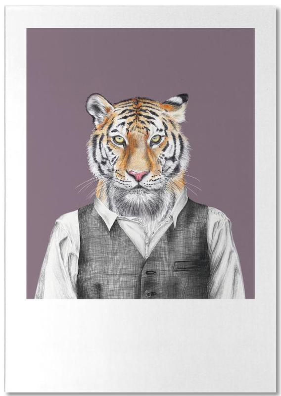 Tiger im Hemd und Weste -Notizblock