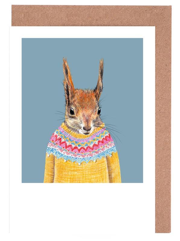 Hörnchen im Islandpullover Greeting Card Set