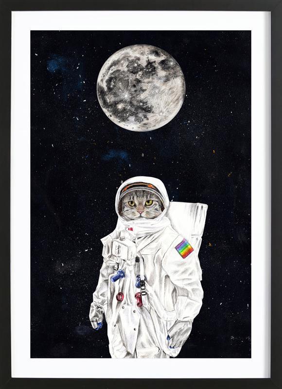 Spacecat Framed Print