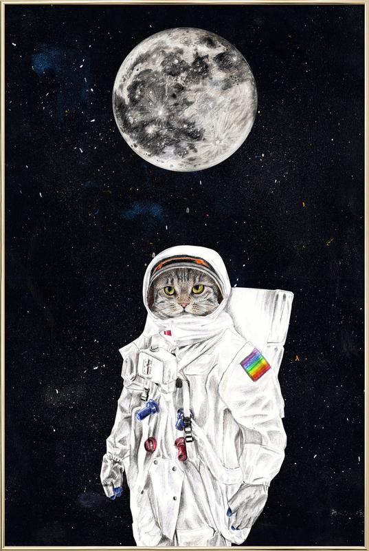 Spacecat Poster in Aluminium Frame