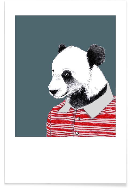 Nursery & Art for Kids, Pandas, Panda im Polohemd Poster