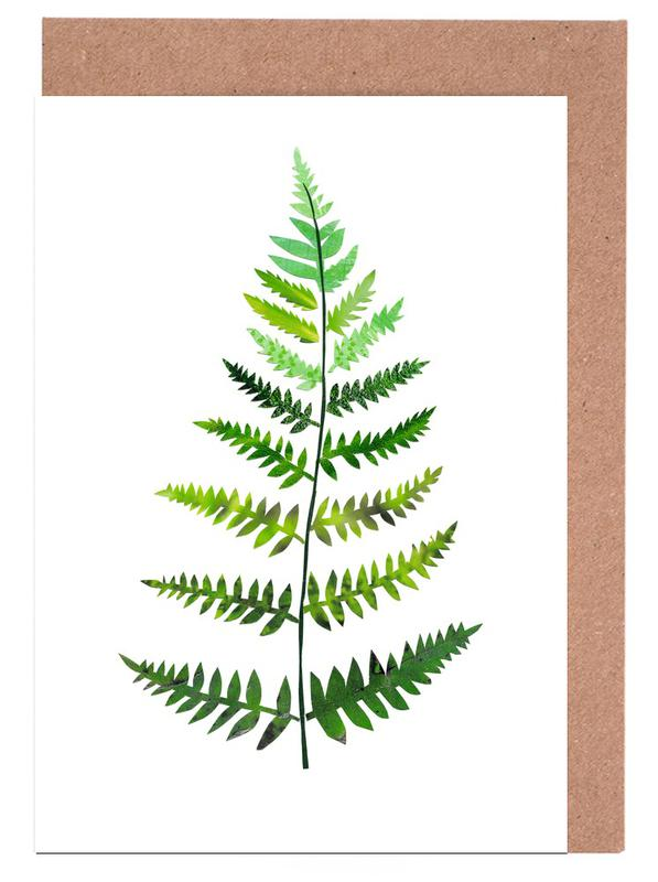 Blätter & Pflanzen, Farn -Grußkarten-Set