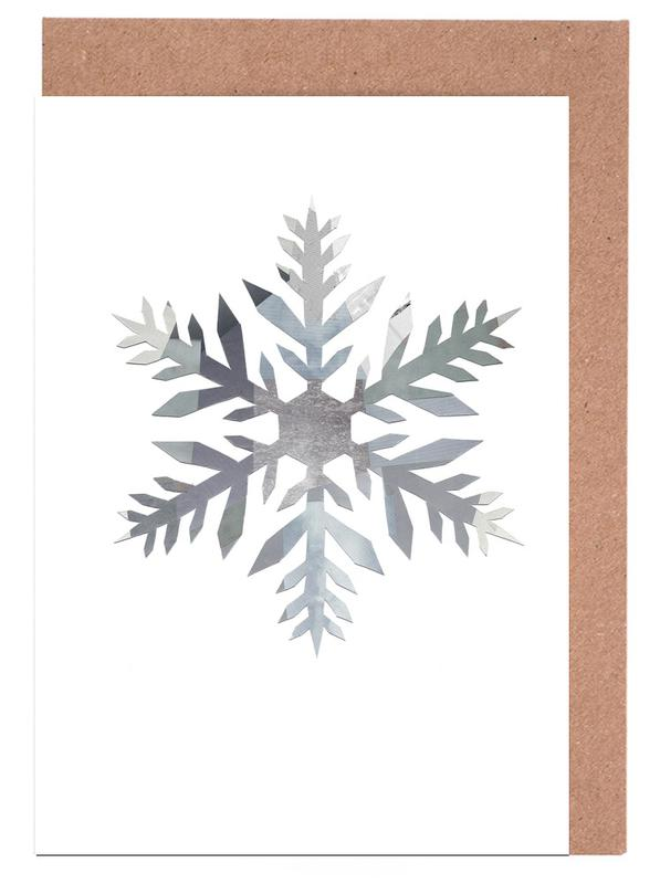 Snowflake 4 Greeting Card Set