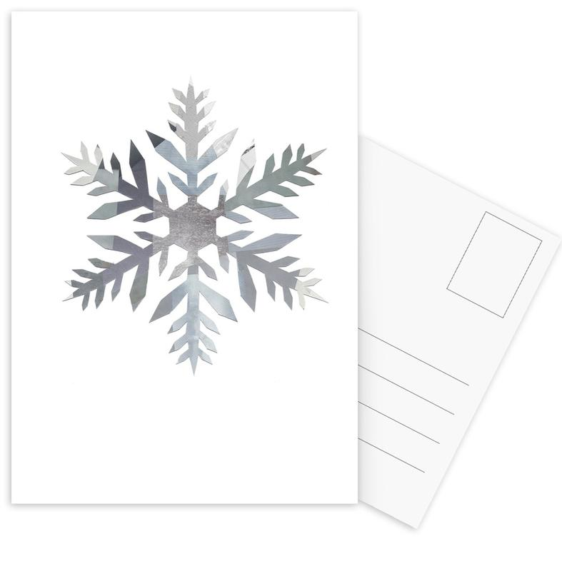 Snowflake 4 Postcard Set