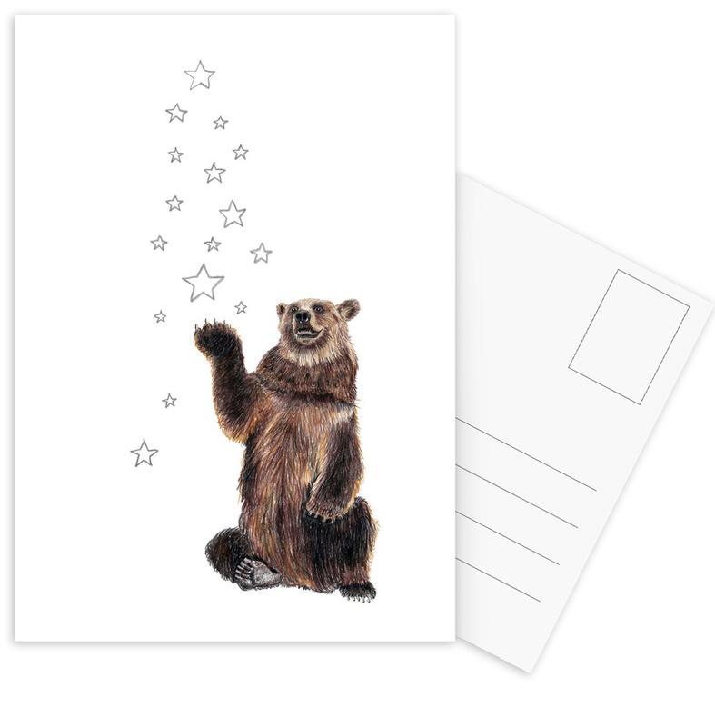 Christmas Bear Postcard Set