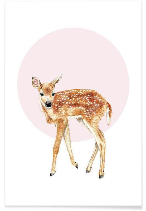 Hirsche, Kinderzimmer & Kunst für Kinder, Bambi -Poster