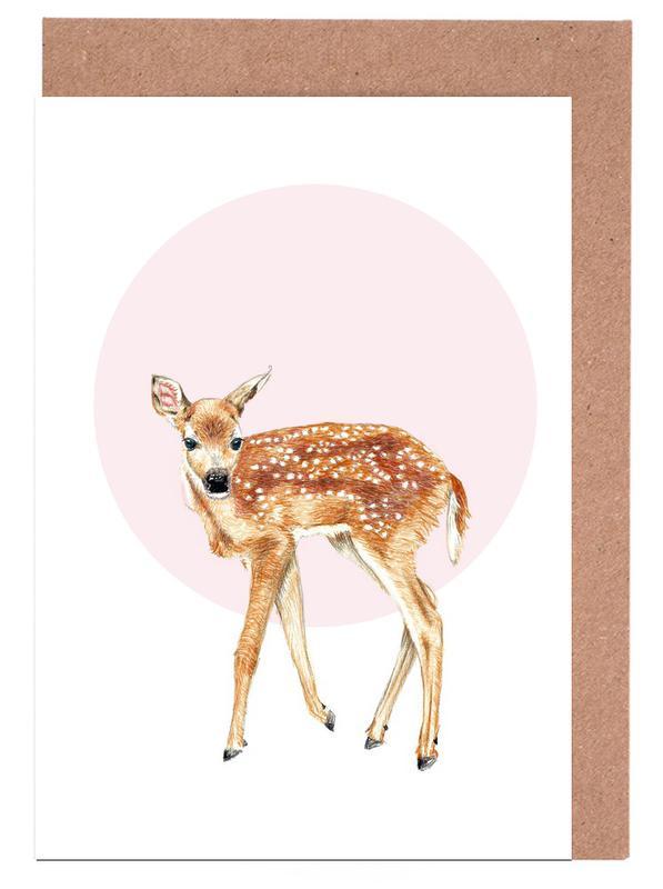 Deer, Nursery & Art for Kids, Bambi Greeting Card Set