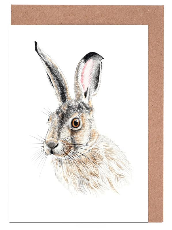 Nursery & Art for Kids, Rabbits, Rabbit Greeting Card Set