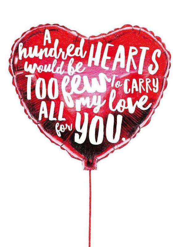 Heart Balloon canvas doek