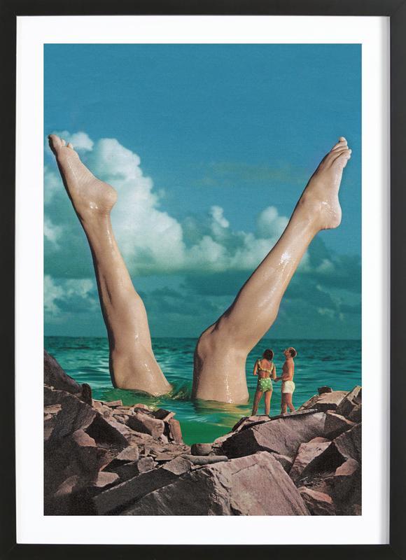 Nice Legs -Bild mit Holzrahmen