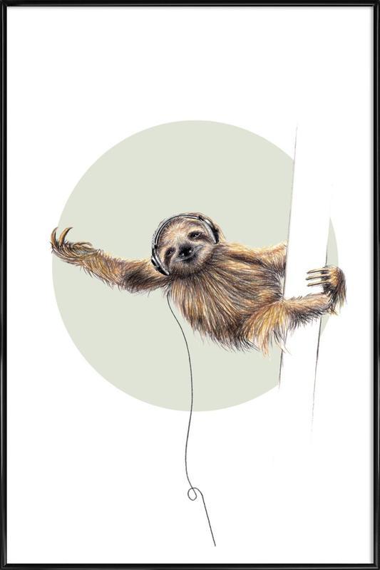 Sloth -Bild mit Kunststoffrahmen