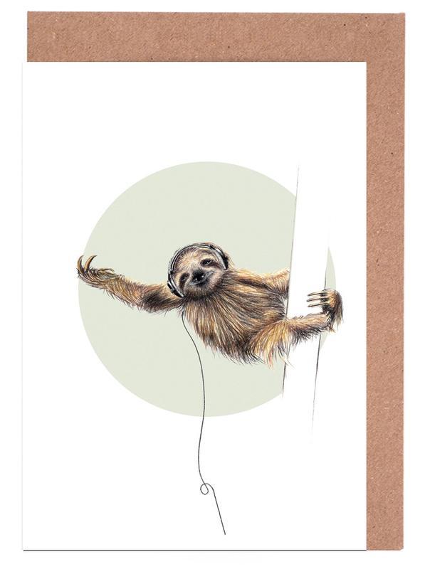 Sloth -Grußkarten-Set