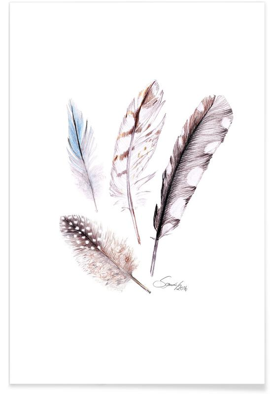 Plumes, Feather affiche