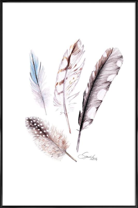 Feather Framed Poster