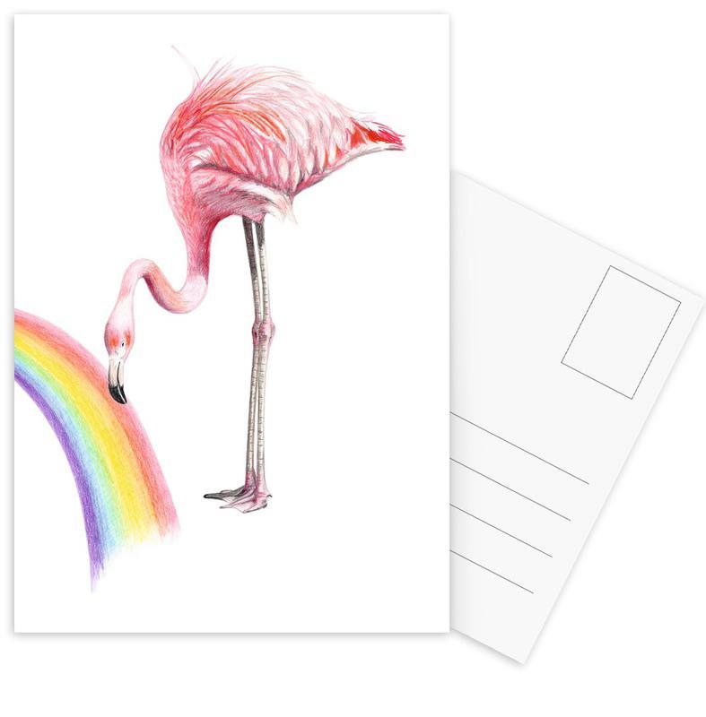 Flamingo -Postkartenset