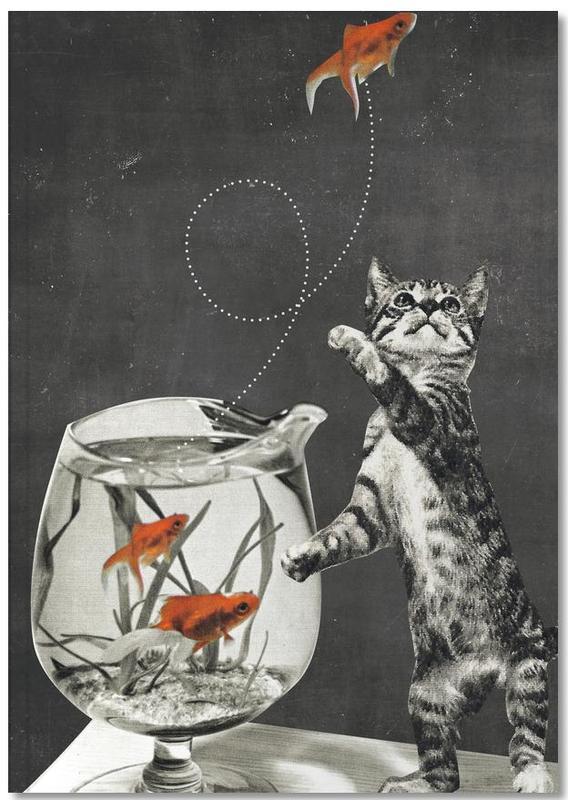 Chats, Art pour enfants, Fishbowl Notebook