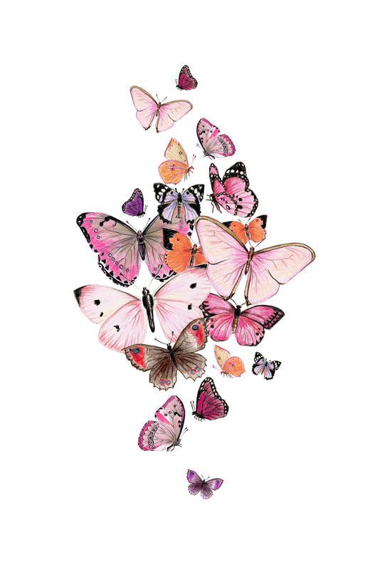 Schmetterlinge Rosarot acrylglas print